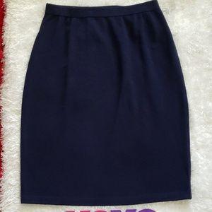 ST. JOHN BASICS santana blue knit skirt